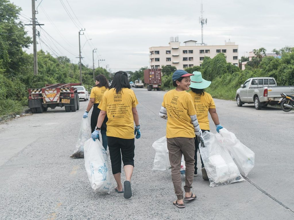Voluntariado medioambiental Trash Hero; Bangkok, Tailandia