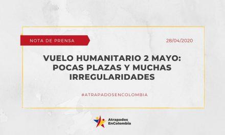 Vuelo humanitario 2 de mayo: pocas plazas y muchas irregularidades