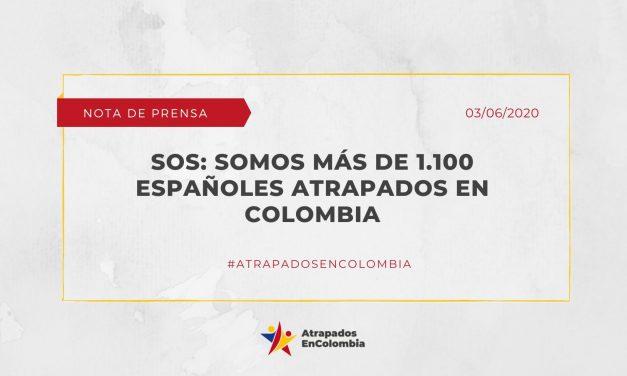 SOS: Somos más de 1.100 españoles atrapados en colombia