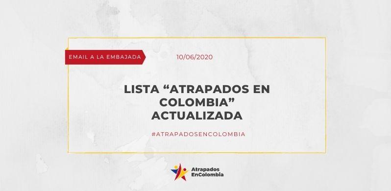 """Lista """"Atrapados en Colombia"""" actualizada"""