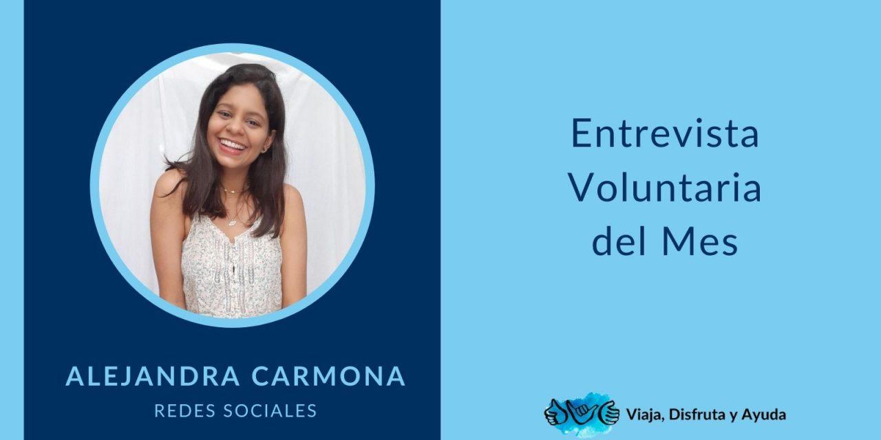 Voluntaria del mes: Alejandra Carmona, Redes Sociales