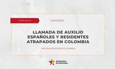 Llamada de Auxilio Españoles y Residentes Atrapados en Colombia