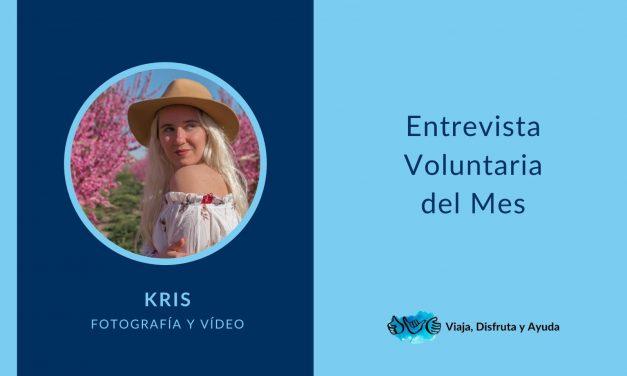 Voluntaria del mes: Kris, fotografía y vídeo